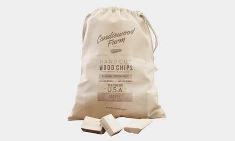 Seasoned Smoking Woods - The Candiewood Farm Whiskey-Treated Maple Wood Chips Enhance Foods