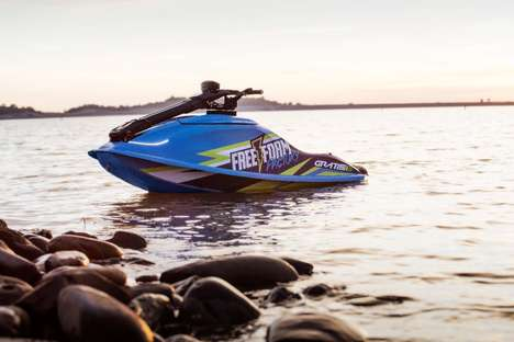 Gas-Free Standup Watercraft - The Free Form Factory Gratis X1 Personal Watercraft is Emissions-Free
