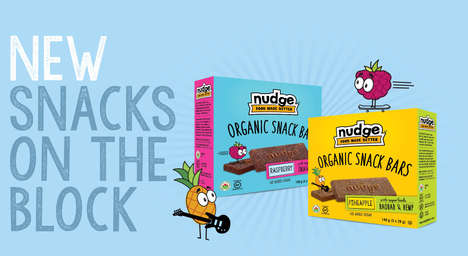 Organic Superfood Snack Bars - Nudge's Organic Snack Bars are Made with Nutrient-rich Superfoods