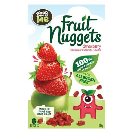 Pear-Based Natural Fruit Snacks - The Goodness Me Fruit Nuggets are Vegetarian and Allergen-Free