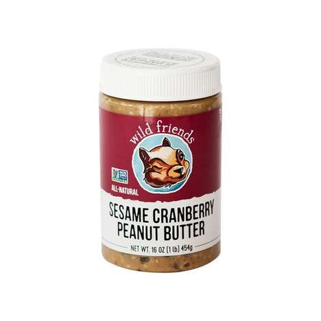 Savory Peanut Spreads - Wild Friends Foods' Peanut Butter Includes Sesame Seeds and Cranberries
