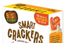 Bitsy's Brainfood's Smart Crackers are Made with Organic Vegetables