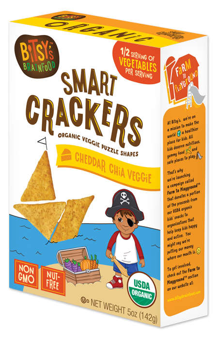Vegetable-Infused Crackers - Bitsy's Brainfood's Smart Crackers are Made with Organic Vegetables