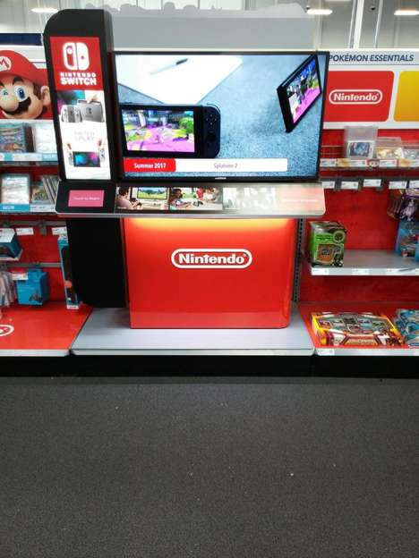 Interactive Gaming Console Displays - Best Buy's Nintendo Switch Display Features Interactive Videos
