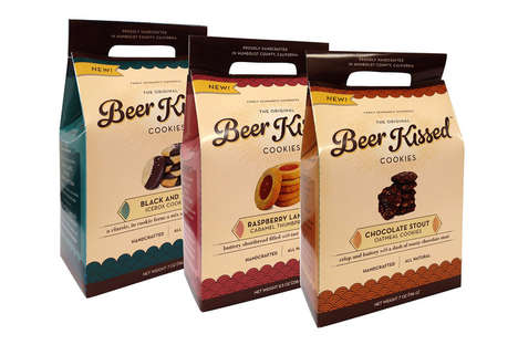 Beer-Infused Cookies - 'Beer Kissed' Makes Baked Treats Enhanced with Ale and Stout