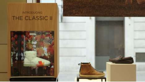 Animated Winter Boot Displays - UGG Created a Unique Display to Market Its Monogramming Service