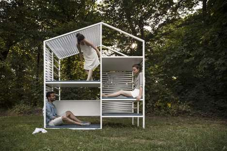 Digital Escapism Furniture - The 'Soufuu' Outdoor Seating Furniture is a Retreat from Technology