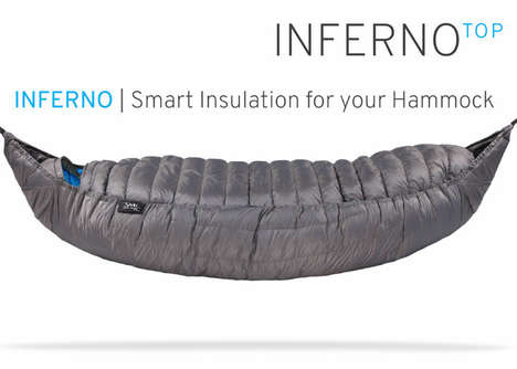 Winter Camping Hammock Insulators - The 'INFERNO' Cocoon Hammock Insulator Ensures Consistent Warmth