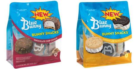 Single-Serve Ice Cream Snacks - The Blue Bunny Bunny Snacks Come in Resealable Bags