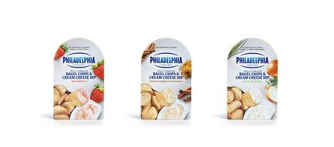 Cream Cheese Snack Cups - The Philadelphia Bagel Chips & Cream Cheese Dips are Portable