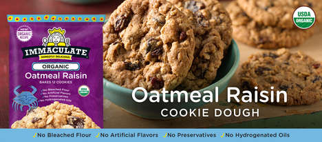Ready-to-Bake Oatmeal Cookies - Immaculate Baking's Newest Product is Organic Oatmeal Raisin Cookies