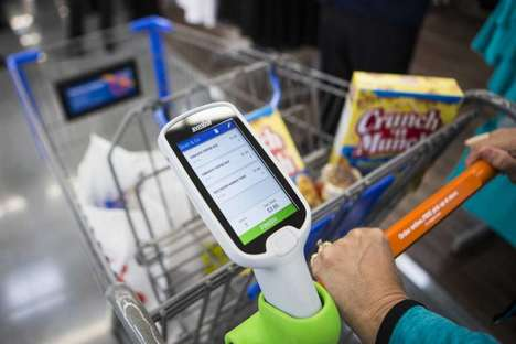 In-store Checkout Apps - Wal-mart's Scan & Go Technology Helps Customers Skip Busy Checkout Lines