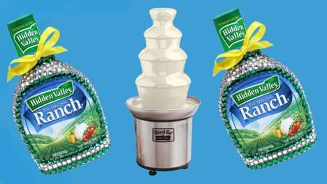 Cascading Salad Dressing Dispensers - The Hidden Valley Ranch Fountain Holds Up to Two Pounds of Dip