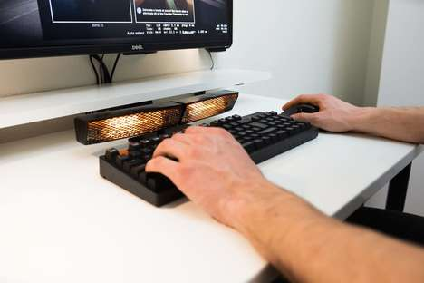 Specialized PC Hand Heaters - The Enavo 'Heatbuff' will Warm Hands of Avid Computer Users