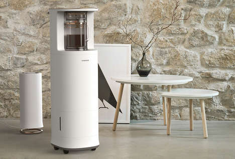 Dedicated Mobile Tea Machines - The 'Blendin' Tea Maker Can be Rolled Anywhere in a Home or Office