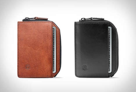 Premium Everyday Wallets - The Accomplice Wallet by Capsule Only Opens Partially to Save Space