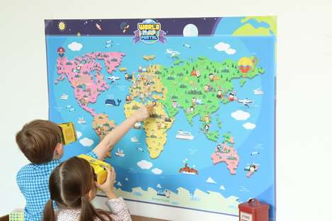 Educational VR Map Toys - The 'WorldMapPortal' Mixed Reality Map Makes Use of VR Viewers