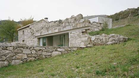 Modern Stone Rubble Dwellings - This Old Stone House was Renovated to Bring it into the Modern Era
