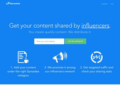 Influencer Content Platforms - 'Spreadee' Enables Content Sharing with Social Media Users
