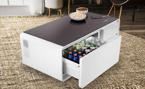 Connected Refrigerator Coffee Tables - The 'Sobro' Living Room Coffee Table Has Speakers and More