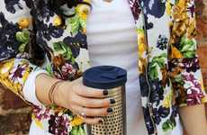 Insulated Coffee-Brewing Mugs - The bobble 'Presse' Portable Coffee Presses Ensure Optimal Brews