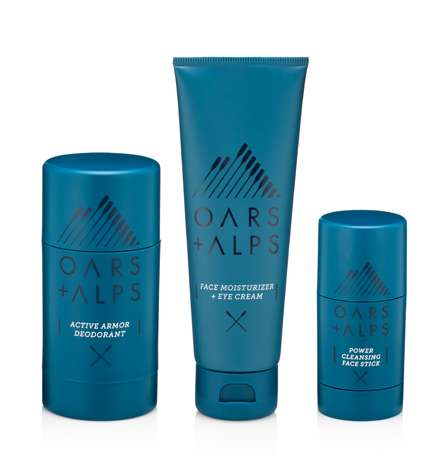 Active Natural Skincare Kits - The Oars + Alps Full Kit for Men is Ideal for Everyday or Travel Use