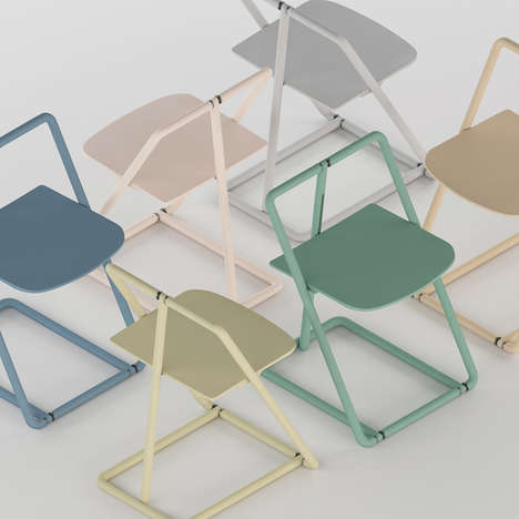 Modern Skeletal Folding Chairs - The 'Flipp' Folding Chair Design Compacts Completely Flat