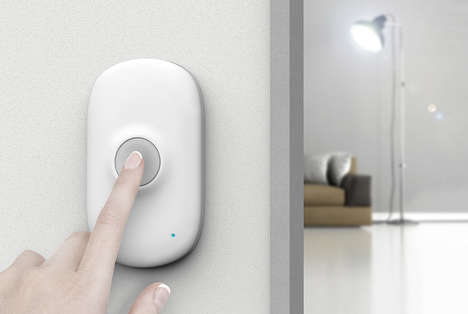 Wireless Visual Doorbells - The 'Light Bell' Doorbell Works Without Audio Prompts