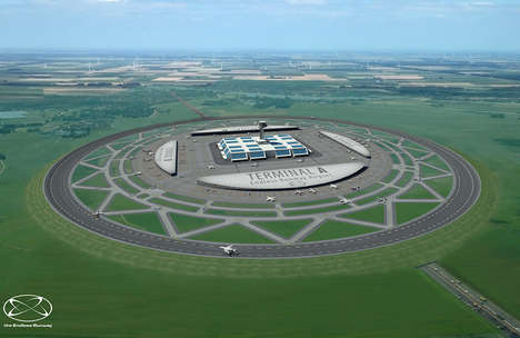 Spherical Runway Airport Designs - This Circular Runway Design Reduces the Instance of Issues