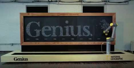 Intelligent Chalkboard Robots - The Chalkbot Draws Like Einstein for National Geographic 'Genius'