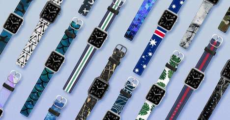Premium Leather Smartwatch Straps - The Casetify Saffiano Leather Watchband Collection is Stylish