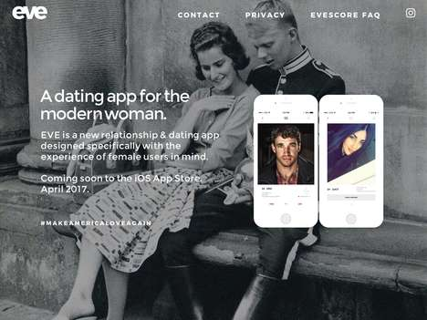 User-Scoring Dating Apps - The 'EVE' Mobile Dating App Rewards Male Users for Being Genuine