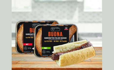 Prepackaged Street Food Wieners - The Buona Chicago Hot Dogs are Pre-Cooked and Contain No Fillers