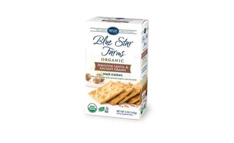 Slow-Baked Snack Crackers - These Organic Sprouted Lentil & Ancient Grains Crackers are Balanced