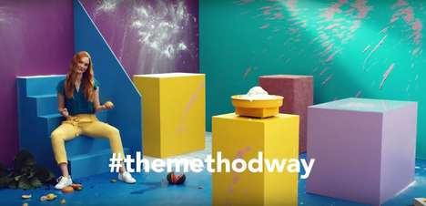 Colorful Cleaner Campaigns - 'The Method Way' Campaign Embraces Color and Mess