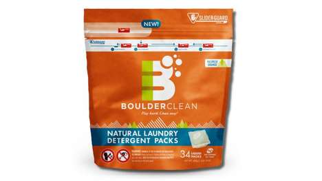 Child-Resistant Detergent Packaging - Boulder Clean's Flexible Packs Feature a Secure Zip Closure