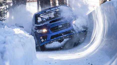 Olympic-Inspired Auto Ads - The Subaru Bobsled Commercial Touts the Capabilities of the WRX STI