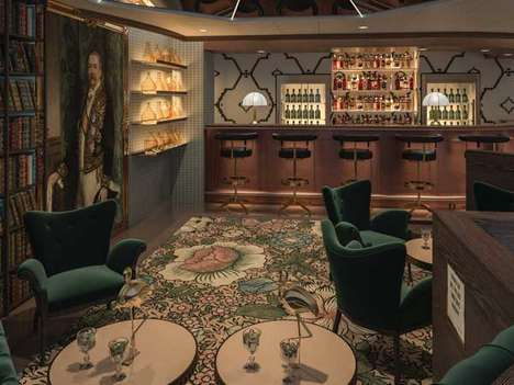 Opulent Cruise Ship Pubs - The Bonded Store Cocktail Bar Offers Craft Cocktails While at Sea