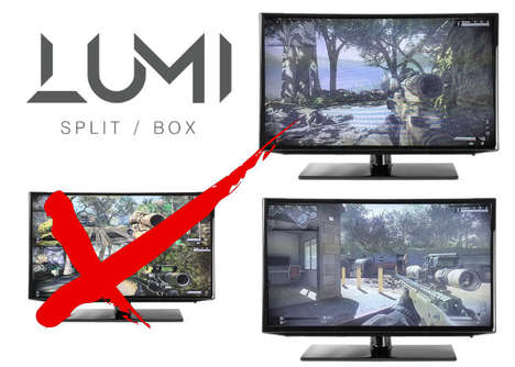 Multi-Screen Console Devices - The 'LUMI Split-box' Lets Users to Play a Console on Multiple Screens