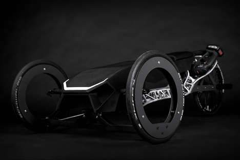Power Tool-Powered Vehicles - The 'TOXIC' Racer Vehicle is 3D-Printed and Powered by a Drill