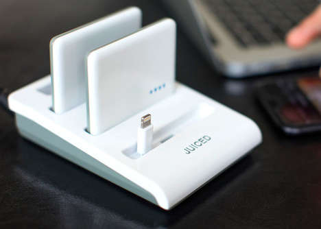 Multipurpose Smartphone Charging Stations - The 'JUICED' Charing Station Offers a Dock and Batteries