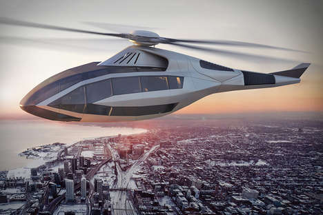 Conceptual Sustainable Helicopters - The Bell FCX-001 Helicopter Aircraft Features AR Controls