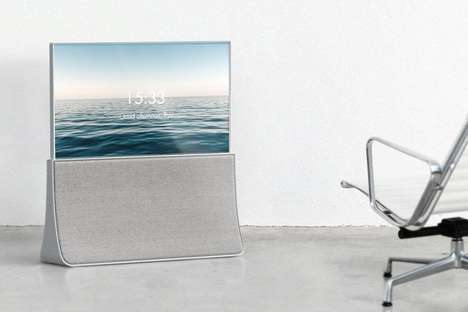 Sleek Pop-Up Televisions - The 'ATELIER' TV Entertainment System Blends Beautifully into Spaces