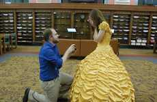 This Beauty and the Beast Proposal Took Place at a Rustic Library