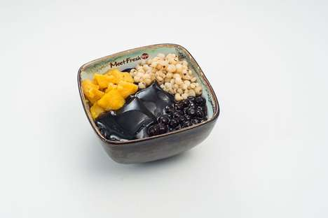 Herbal Jelly Desserts - Meet Fresh's Grass Jelly Offers a Taste of Asian Desserts in California