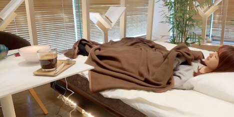 Restorative Nap Cafes - Nescafe's Cafe in Japan Offers Space for Napping on World Sleep Day