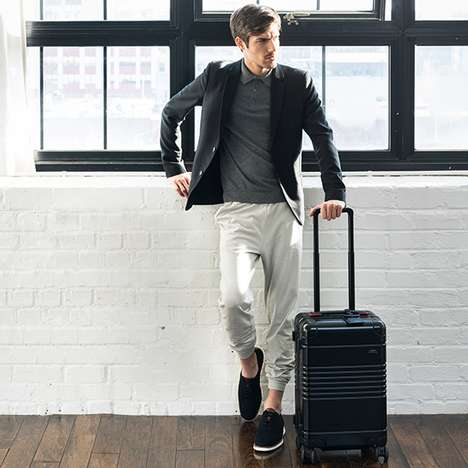 Subtle Sports Car Luggage - The Arlo Skye Audi Carry-on Pays a Quiet Tribute to German Engineering