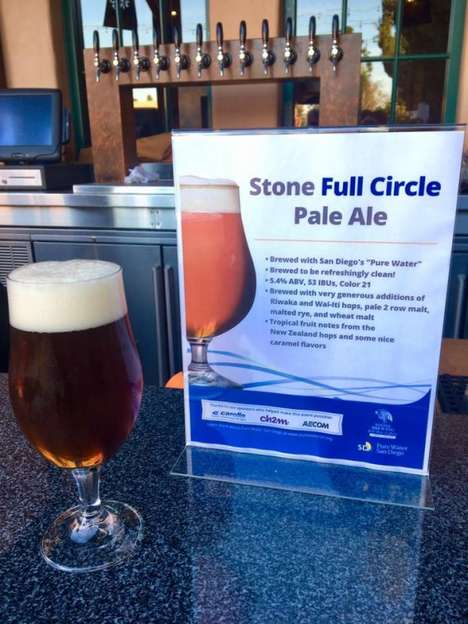 Wastewater-Brewed Beers - Stone Brewing Full Circle Pale Ale is Made Using 100% Wastewater