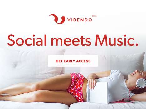 Social Music Streaming Platforms - 'Vibendo' Users Can Make and Share Playlists with Friends or Fans