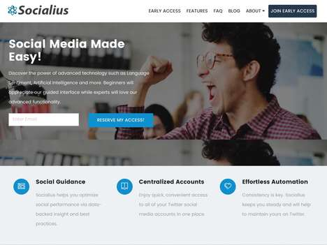 Automated Social Media Platforms - The 'Socialius' Social Media Management Platform Offers Guidance